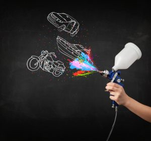 paint spray gun for vehicles