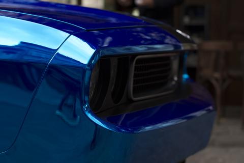 Fragment of shiny sport car